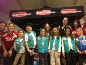 Junior Troop 32286 at the RadioDisney booth at Winterfest 2013